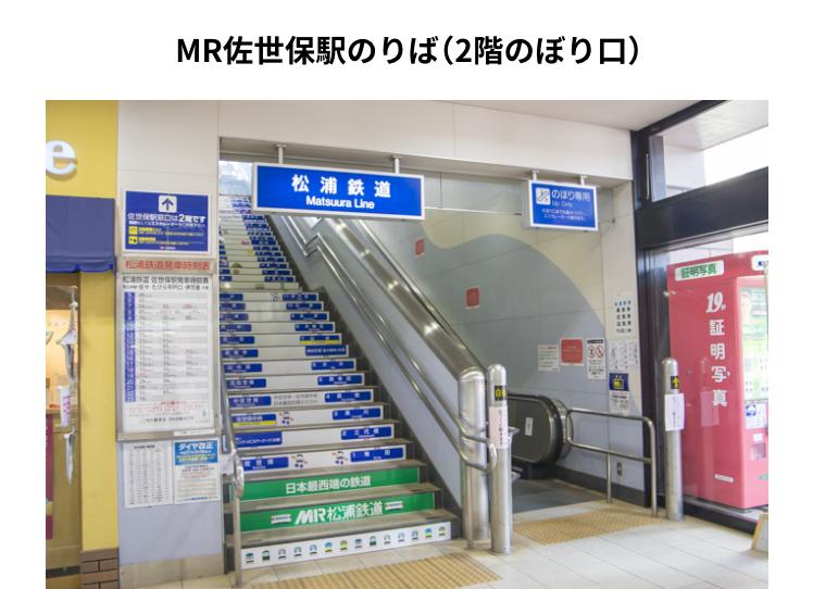 MR(松浦鉄道)2階のぼり口