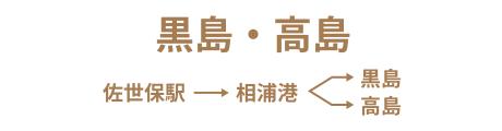 黒島・高島